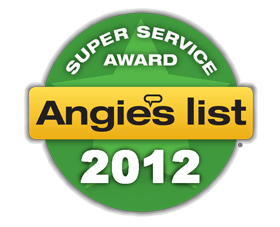 Angies List 2012 Super Service Award Winner
